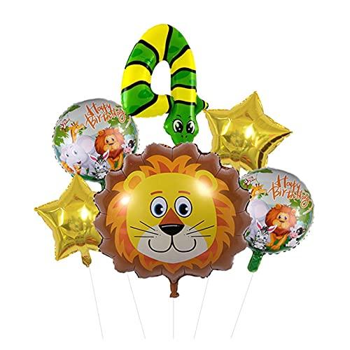 XIAOZSM Globos Lion Head Globos Set Animal Número de Diapositivas Globos Cumpleaños Cumpleaños Fiesta de cumpleaños Decoraciones Baby Shower ( Farbe : 4 )