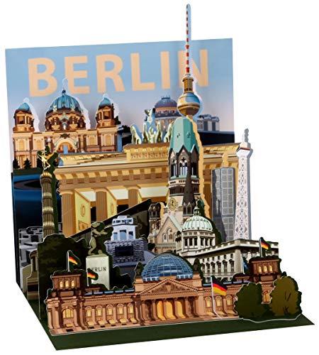 Berlin Pop Up 3D PopShot Städtekarte Grußkarte Karte Tourist 13x13cm