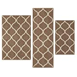 Maples Rugs Kitchen Rug Set - Rebecca [3pc Set] Non Kid Accent Throw Rugs Runner [Made in USA] for...