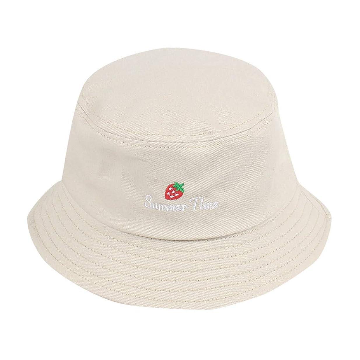 病気眉品種帽子 夏 発送 漁師の帽子 レディース ハットラップ 森ガール かわいい 吸汗通気 女優帽 日よけ UVカット 帽子 ハット レディース 棉 日よけ つば広 紫外線対策 小顔効果抜群 刺繍 いちご ROSE ROMAN
