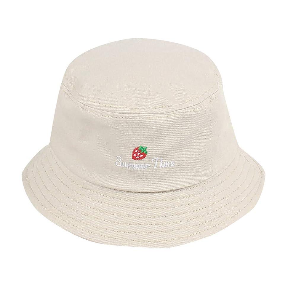 何受ける下に帽子 夏 発送 漁師の帽子 レディース ハットラップ 森ガール かわいい 吸汗通気 女優帽 日よけ UVカット 帽子 ハット レディース 棉 日よけ つば広 紫外線対策 小顔効果抜群 刺繍 いちご ROSE ROMAN