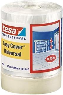 Tesa 04368-00012-03 Easy Cover 4368 Premium schilderrepp (met afdekfolie 33 m:550 mm)
