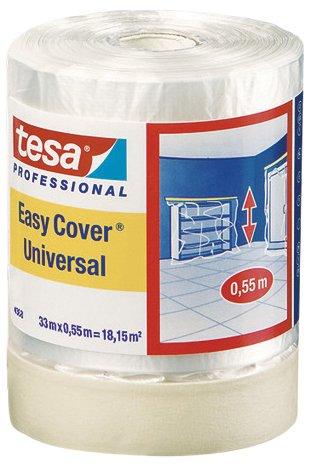 Tesa 04368-00012-01 - Nastro per mascheratura con pellicola protettiva Easy Cover Premium, 33 m x 550 mm