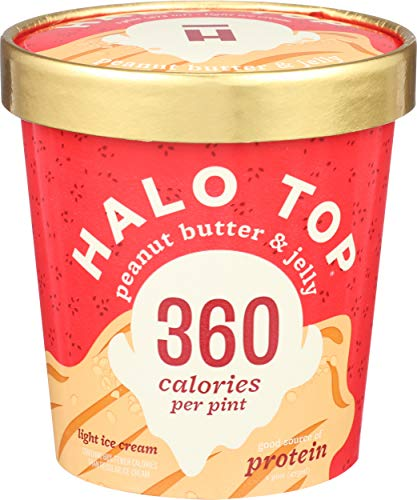 Halo Top Creamery, Ice Cream Peanut Butter Jelly, 16 Fl Oz
