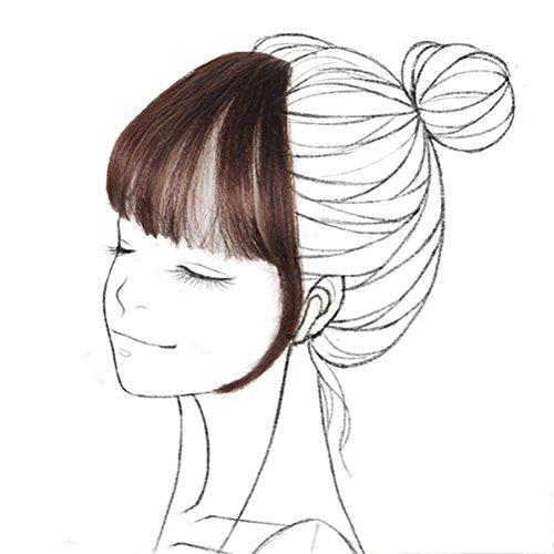 Echthaar-Verlängerung zum anstecken, Mini-Air-Bang-Pony-Haarteil von Remeehi