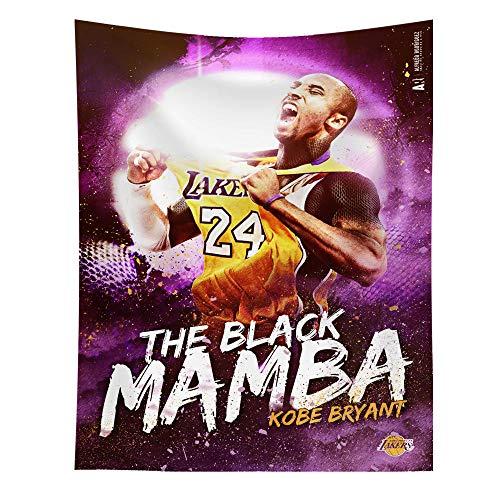 Xuejia Kobe Conmemorativa Junto a la Cama Tela de Fondo NBA Lakers Dormitorio decoración de la cabecera Tela para cancha de Baloncesto Tapiz Kit -29_Personalización del tamaño de la Franela