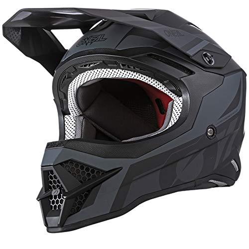 O'NEAL   Motocross-Helm   MX Enduro Motorrad   ABS-Schale, Sicherheitsnorm ECE 22.05, Lüftungsöffnungen für optimale Belüftung & Kühlung   3SRS Helmet Hybrid   Erwachsene   Schwarz Grau   Größe L