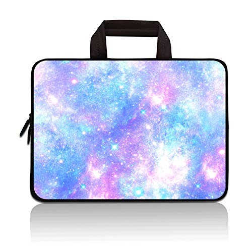 HYUTOTA 14 15 15.4 15.6 inch Laptop Handle Bag Computer Protect Case Pouch Holder Notebook Sleeve Neoprene Cover Soft Carrying Travel Case Fit Dell Lenovo Toshiba HP Chromebook ASUS Acer(Blue Galaxy)