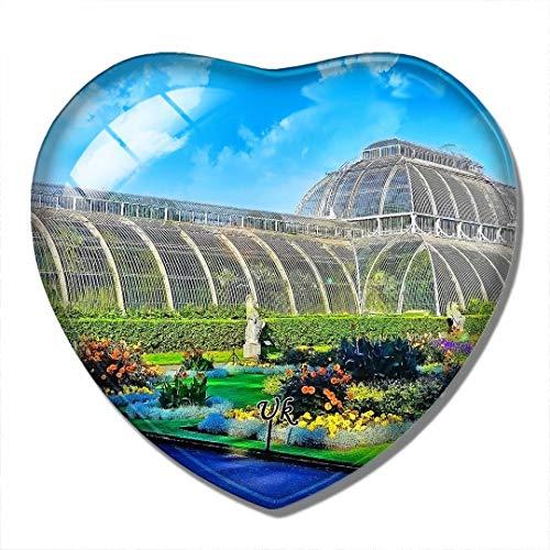 'N/A' Reino Unido Imán Reino Unido Inglaterra Royal Botanic Gardens, Kew Richmond-Upon-Thames Imán de Nevera 3D Artesanía Recuerdo Cristal Refrigerador Imanes Colección Regalo de Viaje