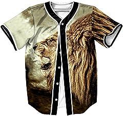 Camiseta Hombre 3D Impreso Verano Casual Camiseta de Béisbol