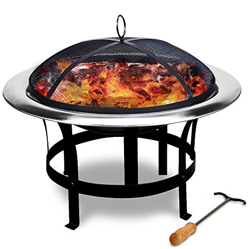 LD vuurschaal, roestvrij staal, grill, vuurkorf, haard, grillschaal, grillvuur.