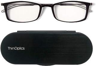 ThinOptics Reading Glasses + Milano Anodized Aluminum, Magnetic Case