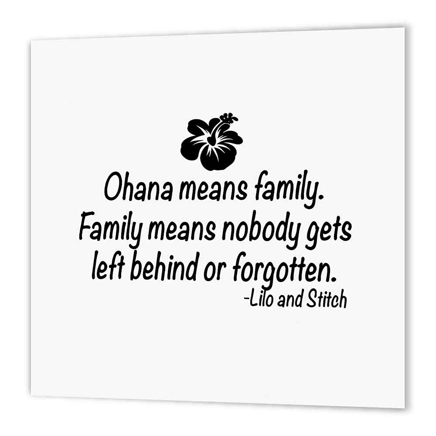 3dRose ht_163985_2 Ohana Means Family-Iron on Heat Transfer Paper for White Material, 6 by 6-Inch