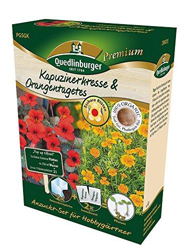 Anzuchtset Kapuzinerkresse & Orangentagetes von Quedlinburger Saatgut [MHD 01/2020]
