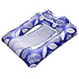 FYUSTOL Inflatable Swimming Floating Bed, Water Lounge with Headrest, Multifunctional Swimming Pool Hammock, Portable Swimming Pool Floating Bed (Leisure Chair, Hammock