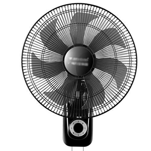 DZWSD Wandventilator | Oszillierend/rotierend | Stummschalten | 4 Geschwindigkeiten | 1,6 m Netzkabel | 60W | Abkühlung für den Sommer zu Hause/im Büro