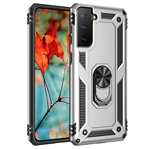 AFARER Hülle Kompatibel Mit Samsung Galaxy S21 5G/Samsung Galaxy S30 Militärische Handyhülle Silber