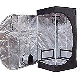TopoGrow D-Door 24'X24'X48' Indoor Grow Tent Room 600D Mylar High...