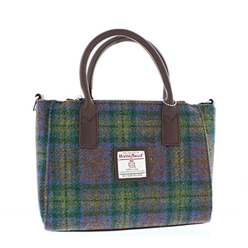 Glen Appin Harris Tweed Tote Handbag – LB1228 Brora (Colour 94 Skye Tartan)