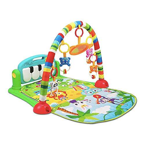 SMUOO Baby Multifunktionale Klavierspielmatte mit Licht und Ton Lernteppich Baby Early Education Aktivität-GRÜN