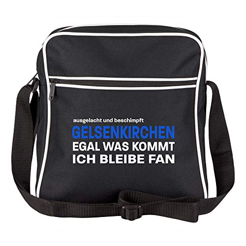 Schultertasche ausgelacht und beschimpft - Gelsenkirchen - Egal was kommt, ich bleibe Fan schwarz - Gelsenkirchen Gelsenkirchener Fußball