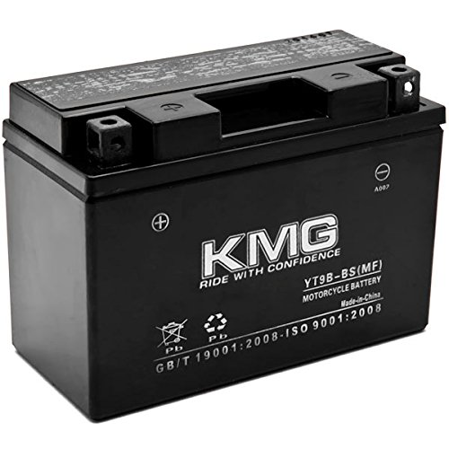 KMG YT9B-BS Battery Compatible with Yamaha YZF-R6 2001-2005 Sealed Maintenance Free 12V Battery High Performance SMF OEM Replacement Powersport Motorcycle ATV Scooter Snowmobile Watercraft
