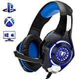 Beexcellent Gaming Headset for PS4 Xbox One PC Mac Controller Gaming Headphone with Crystal Stereo...