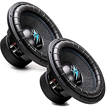 2 x Hifonics BRW12D4 2000 Watts 12 Inch Brutus Car Audio Subwoofer with Heavy Gauge Powder Coated Aluminum Die-Cast Basket Dual 70 Oz Magnet 3 Inches Voice Coil - Dual 4 Ohm - 12 in  Pair