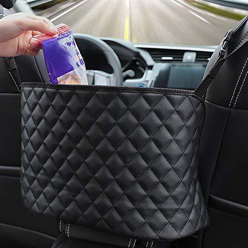 YeenGreen Auto Netztasche Handtaschen, Lederhandtaschenhalter, Car Net Pocket,Handtasche Halter Organizer Autotaschen Auto Aufbewahrungsorganisator,Schwarz