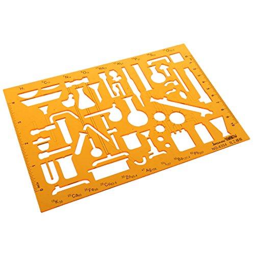 Kunststoff Multifunktionale Zeichnungsvorlage Zeichnung Lineal Technisches Zeichnen Abrundungsschablone - 2