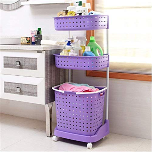Muebles de cocina Cesto para la ropa sucia Cesto de plástico para la ropa Cesto para la mano Cesto de almacenamiento Cubo para la ropa sucia Baño Estantería Estante Sucio Armarios de cocina