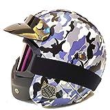 OLEEKA Casco de camuflaje de plástico ABS Tácticas Militares Ejército de campo de combate Motos Cascos de motocicleta