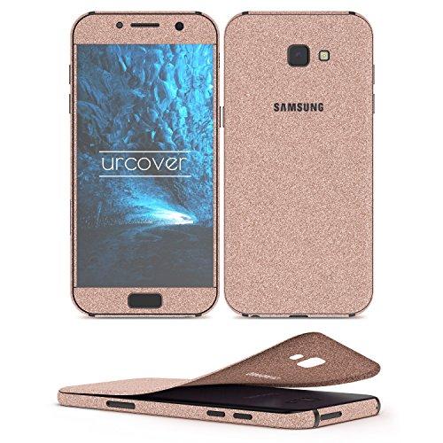 Urcover Glitzer-Folie zum Aufkleben kompatibel mit Samsung Galaxy A5 2017 Folie in Champagner Gold | Handyskin Diamond Funkeln Schutzfolie Bling