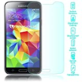 NALIA Schutzglas kompatibel mit Samsung Galaxy S5 / S5 Neo, Full-Cover Bildschirmschutz Handy-Folie, 9H Festigkeit Glas-Schutzfolie Display-Abdeckung, Schutz-Film Clear HD Screen Protector - Transparent