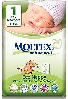 caja de cartón - 138 unidades MOLTEX Nature No1 pañales