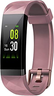 Letsfit Fitness Tracker HR, Activity Tracker Color Screen, Heart Rate Monitor, Sleep Monitor, Step Counter, Calorie Counter, Pedometer IP68 Smartwatch for Women Men