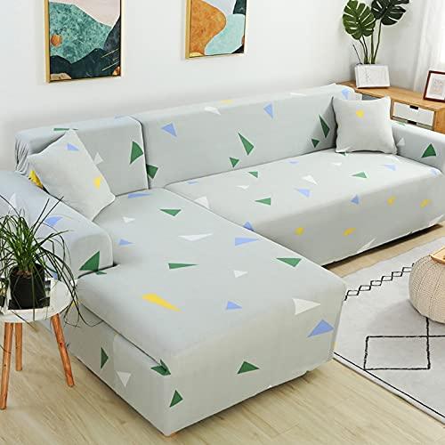 Funda de sofá elástica seccional elástica para sofá de Sala de Estar Funda de sofá en Forma de L Funda de sillón A20 de 4 plazas