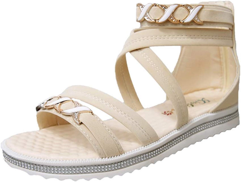 Btrada Woherrar Spike Sandal s Flats sommar strand Kvinnlig Kvinnlig Kvinnlig Sandal Platform Damer Casual Soft Comfort skor  Beställ nu med stor rabatt och gratis leverans