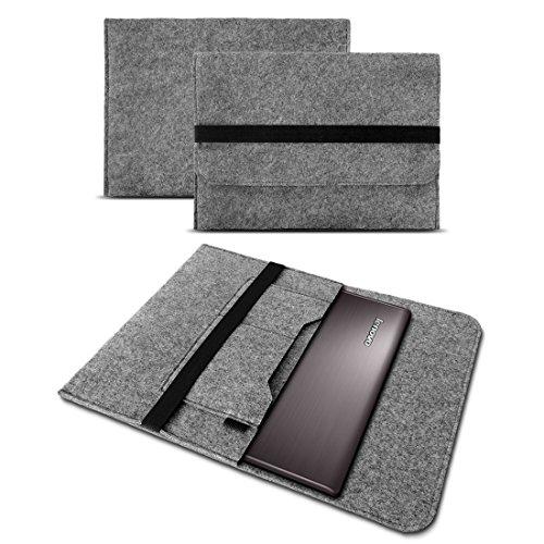 UC-Express Sleeve Hülle kompatibel für Lenovo ThinkPad L13 / L13 Yoga Tasche Filz Notebook Cover Hülle 13 Zoll Grau, Farbe:Grau