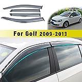 Jiahe per Volks wagen Golf 6 2009-2013 Deflettori d'Aria per Auto Deflettore Pioggia Vento Bloccare Sole Deflettori d'Aria Antiturbo 4PCS