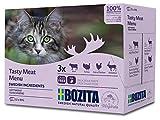 BOZITA Multibox Mixpack Rind, Pute, viel Huhn, Rentier - Häppchen in Soße 12x85g Pouch Portionsbeutel - getreidefreies Nassfutter für...