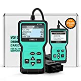 POVO OBD2 Scanner,Universal OBD2 Code Reader Car Diagnostic Tool Auto Check Engine Light Error Analysis Automotive CAN Vehicle Scan Tool for OBDII Protocol Cars Since 1996