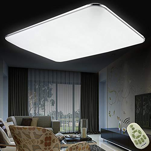 Regulable LED 72W lámpara de techo moderna LED luz de techo Cuadrado delgada 5760lm Plata para Dormitorio Cocina Sala de estar Comedor Balcón Pasillo