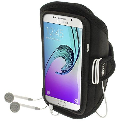 Preisvergleich Produktbild iGadgitz u4687 Stirnband-Arme Sport Kompatibel mit Samsung Galaxy A5 SM-A510 2016 schwarz