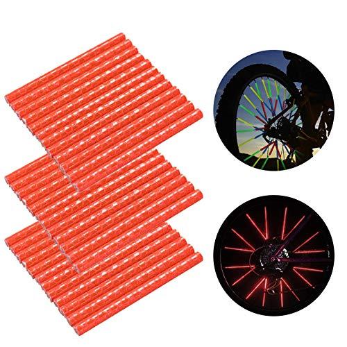 Speichenreflektoren Fahrrad,360° Sichtbarkeit Reflektoren,Fahrradzubehör Reflektoren,Reflektor Clips Fahrrad,Reflektierende Speichensticks,Speichenreflektoren für Sicheres Fahren (36 Stück,Rot)