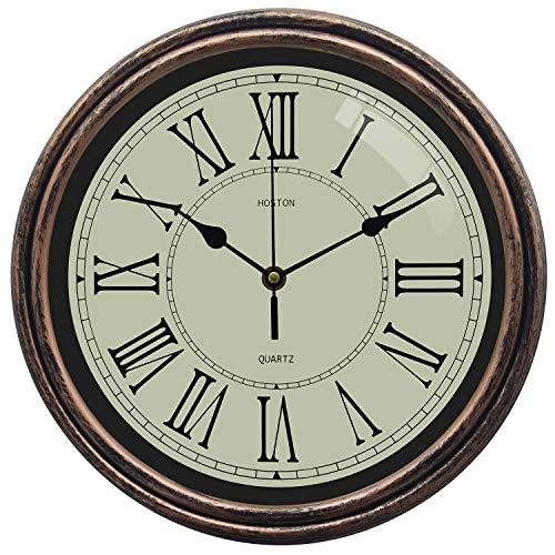 HOSTON Reloj Pared Grande silencioso Reloj de Pared Moderno
