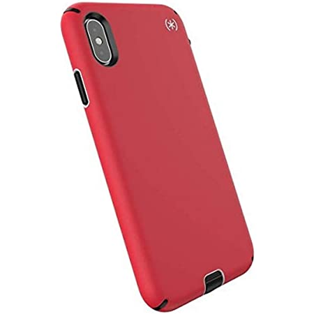 Speck Products Compatible Phone Case for Apple iPhone XS Max, Presidio Sport Case, Heartrate Red/Sidewalk Grey/Black