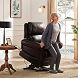 Lift Chair for Elderly Lift Chairs Power Reclining Chair Sofa Electric Recliner Chairs with Remote Control Soft PU Lounge