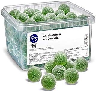Fazer Vihreitä Kuulia - Box 2,2 kg - 4.8lb -Green Jellies -