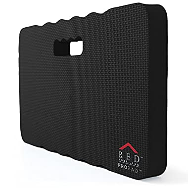 RED Home Club Thick Kneeling Pad - Garden Kneeler for Gardening, Bath Kneeler for Baby Bath, Kneeling Mat for Exercise & Yoga - EXTRA LARGE (XL) 18x11, THICKEST 1-½ , Black